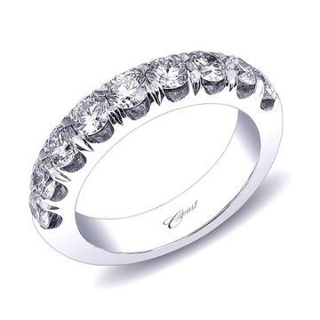 Coast 14k White Gold 1.35ct Diamond Wedding Band