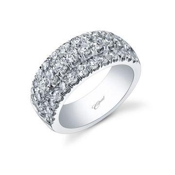 Coast 14k White Gold 1.7ct Diamond Wedding Band