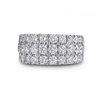 Coast 14k White Gold 2.56ct Diamond Wedding Band
