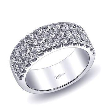 Coast 14k White Gold 1.43ct Diamond Wedding Band