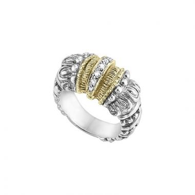 Vahan 14k Yellow Gold & Sterling Silver Diamond Ring