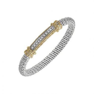 Vahan 14k Yellow Gold & Sterling Silver Sterling Bar Bracelet