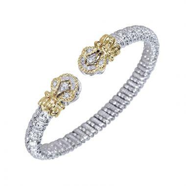 Vahan 14k Yellow Gold & Sterling Silver Open Diamond Bracelet