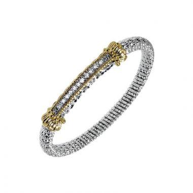 Vahan 14k Yellow Gold & Sterling Silver Closed Diamond Bracelet