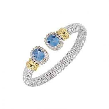 Vahan 14k Yellow Gold & Sterling Silver Blue Topaz Bracelet