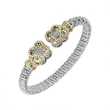 Vahan 14k Yellow Gold & Sterling Silver Clover Bracelet