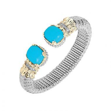 Vahan 14k Yellow Gold & Sterling Silver Turquoise Bracelet