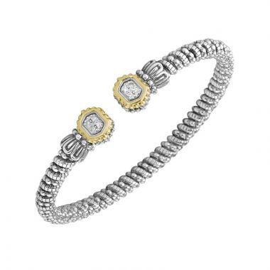 Vahan 14k Yellow Gold & Sterling Silver Open Hexagon Tip Bracelet
