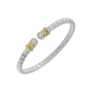 Vahan 14k Yellow Gold & Sterling Silver Open Bracelet