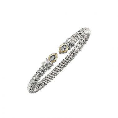 Vahan 14k Yellow Gold & Sterling Silver Pave Diamond Bracelet