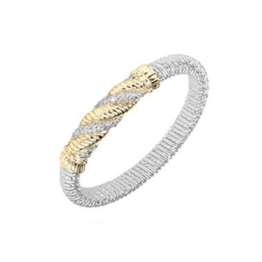 Vahan 14k Yellow Gold & Sterling Silver Twisted Bracelet