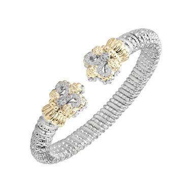 Vahan 14k Yellow Gold & Sterling Silver Fleur De Lis Bracelet