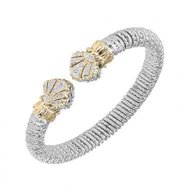 Vahan 14k Yellow Gold & Sterling Silver Open Fan Bracelet