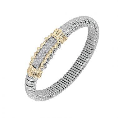 Vahan 14k Yellow Gold & Sterling Silver Bar Design Bracelet