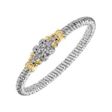 Vahan 14k Yellow Gold & Sterling Silver Scrollwork Diamond Bracelet