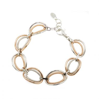 Frederic Duclos  Sterling Silver and Rose Gold Plated Vanessa Bracelet