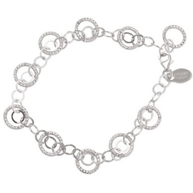 Frederic Duclos  Sterling Silver Multi Circle & Chain Bracelet