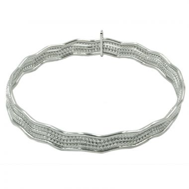 Frederic Duclos  Sterling Silver  Magnificent Wave Bangles