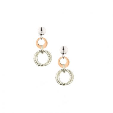 Frederic Duclos  Sterling Silver And Rose Gold Plated Really Cool Earrings