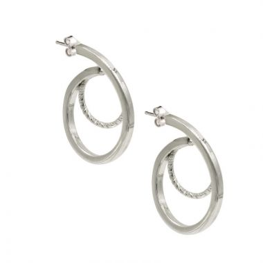 Frederic Duclos  Sterling Silver Loop De Loop Earrings