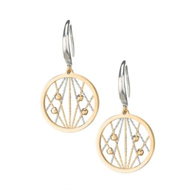Frederic Duclos  Sterling Silver and Yellow Gold Plated Ophilia Earrings