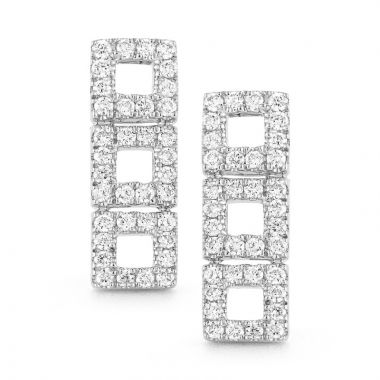 Frederic Duclos  Sterling Silver Square Twist Earrings