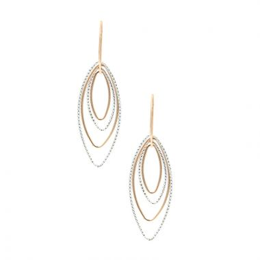 Frederic Duclos  Sterling Silver And Rose Gold Plated Barbara Earrings