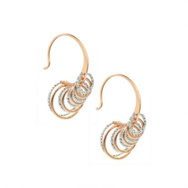 Frederic Duclos  Sterling Silver And Rose Gold Plated Collette Earrings