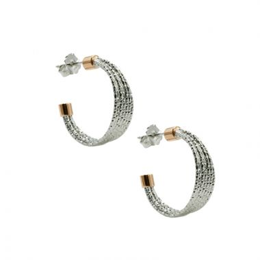 Frederic Duclos  Sterling Silver And Rose Gold Plated Eleanor Hoops