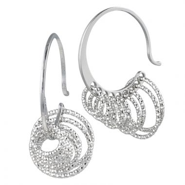 Frederic Duclos  Sterling Silver 9 Ring Earring