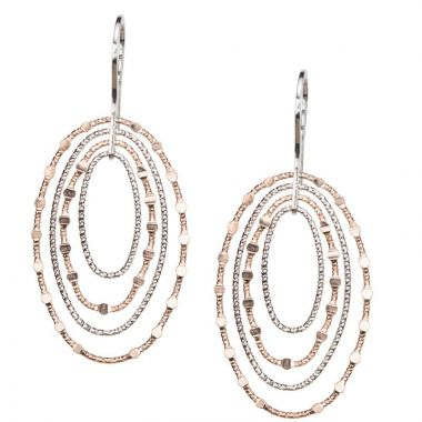 Frederic Duclos  Ss Rose Gold-Plated Mirrors Oval Earrings