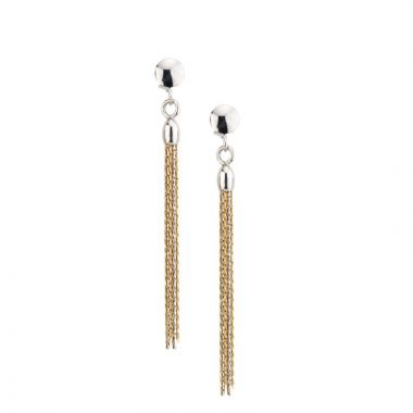 Frederic Duclos  Ss Yellow Gold Plated Tassel Earrings