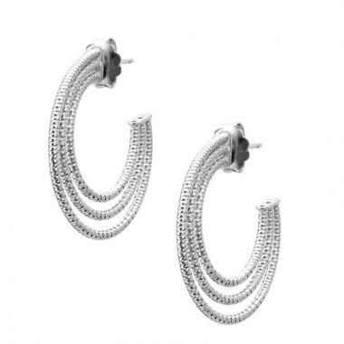 Frederic Duclos  Sterling Silver Triple Hoop Earring