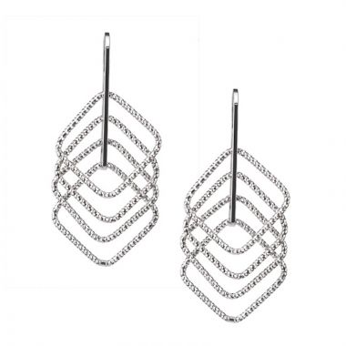 Frederic Duclos  Sterling Silver Square Up Earrings
