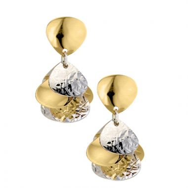 Frederic Duclos  Sterling Silver Yellow Gold Plated Cluster Earrings