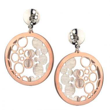 Frederic Duclos  Sterling Silver And Rose Gold Plated Bubbles Galore Earrings