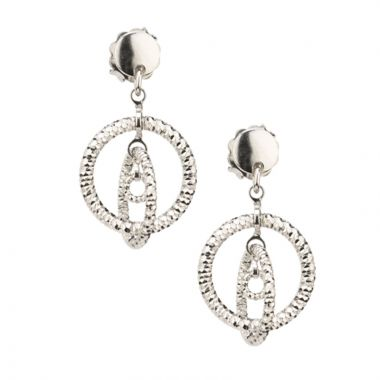 Frederic Duclos  Sterling Silver Sparkle Connections Earrings