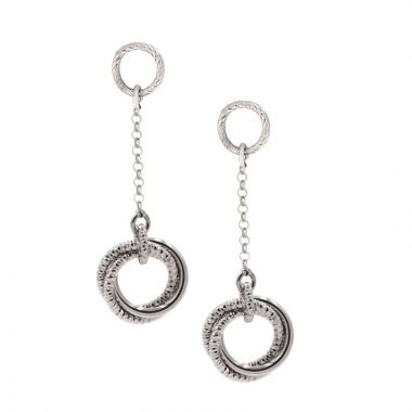 Frederic Duclos  Sterling Silver Love Knot Earrings