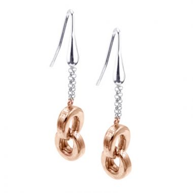 Frederic Duclos  Sterling Silver And Rose Gold Plated Togetherness Earrings