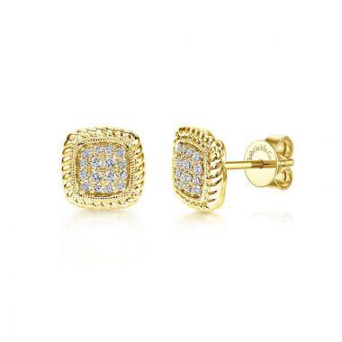 Gabriel & Co. 14k Yellow Gold Hampton Diamond Stud Earrings