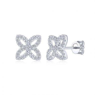 Gabriel & Co. 14k White Gold Lusso Diamond Stud Earrings