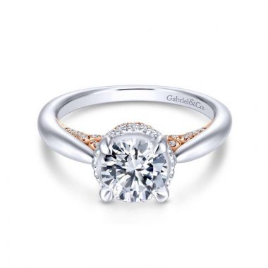 Gabriel & Co. 14k Two Tone Gold Infinity Halo Engagement Ring