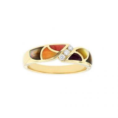 Kabana 14k Yellow Gold Mother of Pearl Inlay Ring