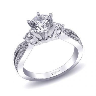 14k White Gold Coast Diamond 0.29ct Diamond Semi-Mount Engagement Ring