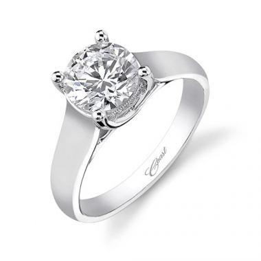 14k White Gold Coast Diamond 0.03ct Diamond Semi-Mount Engagement Ring