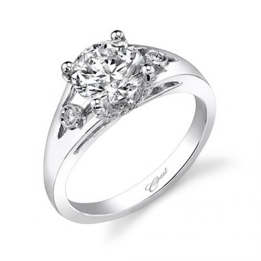 14k White Gold Coast Diamond 0.07ct Diamond Semi-Mount Engagement Ring