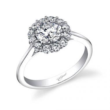 14k White Gold Coast Diamond 0.4ct Diamond Semi-Mount Engagement Ring