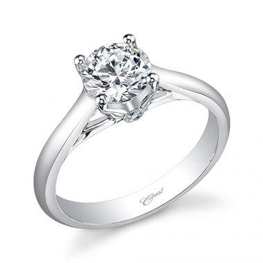 14k White Gold Coast Diamond 0.02ct Diamond Semi-Mount Engagement Ring