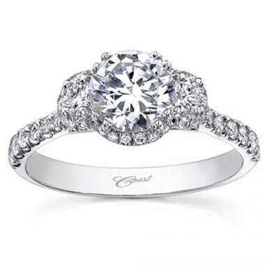 14k White Gold Coast Diamond 0.44ct Diamond Semi-Mount Engagement Ring