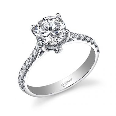 14k White Gold Coast Diamond 0.28ct Diamond Semi-Mount Engagement Ring